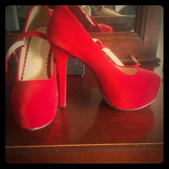 Shoes | Red Ochenta Heels | Poshmark